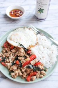 This quick & easy Thai Basil Chicken is budget friendly, light and full of flavor - all blend in a perfect flavor combination. Great for busy weekday meals and can be done in less than 20 minutes.