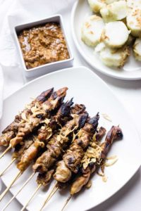 Grilled Chicken Skewers with homemade sauce are tender, juicy, flavorful and perfect for the summer grilling season!