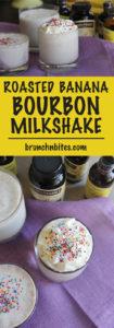 Roasted Banana Bourbon Milkshake | www.brunchnbites.com