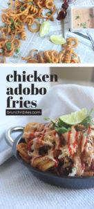 Chicken adobo fries | www.brunchnbites.com