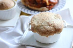 Meatball Marinara Pizza Pot pie | www.brunchnbites.com