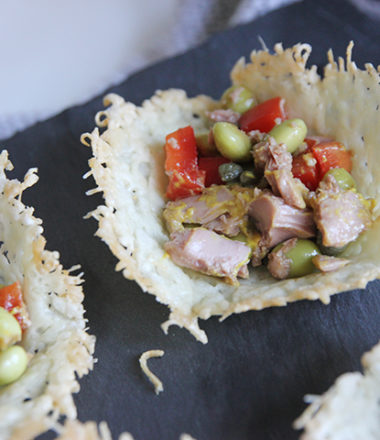 Tuna Salad in Parmesan Cups | www.brunchnbites.com