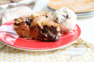 Black Forest Croissant Bread pudding | www.brunchnbites.com