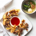 These creamy cream cheese and crab rangoons are so easy to make at home. A fake-out take-out favorite and perfect for snacking on game days!