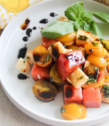 Watermelon Caprese Salad | www.brunchnbites.com