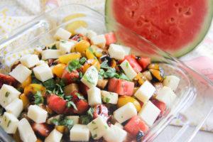 Watermelon Caprese Salad   www.brunchnbites.com