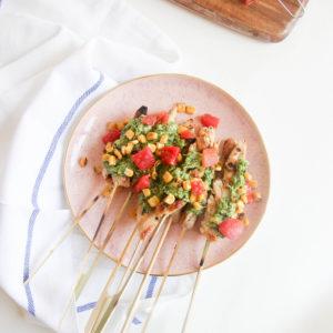 Grilled Chicken with Green Salsa   www.brunchnbites.com
