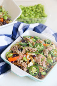 Cold Asian Noodle Salad | www.brunchnbites.com
