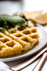 Gluten-free cheesy cauliflower waffles