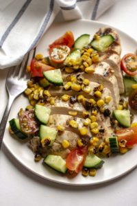 Grilled Chicken with Cucumber-Tomato Salsa. If you are looking for a meal that is scrumptiously good while still being healthy and simple to make, this grilled chicken with cucumber-tomato salsa is a winner.