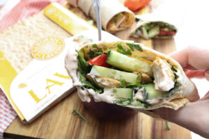 If you are looking for an easy yet delicious dish that you can prep ahead of time, you are going to love this Chicken Shawarma Lavash. This is wonderful for lunch or dinner any night of the week.