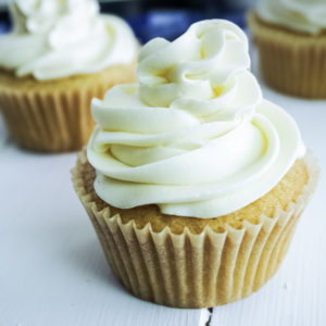 Vegan Vanilla Cupcakes. 1 Bowl and less than 1 hour. And with just a few, basic ingredients needed, these cupcakes could not be easier to make. They're so delicious you'd never be able to tell they're vegan.
