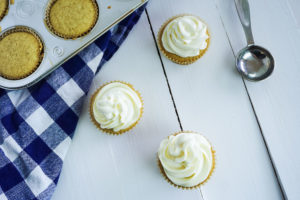 Vegan Vanilla Cupcakes. 1 Bowl and less than 1 hour. And with just a few, basic ingredients needed, thesecupcakes could not be easier to make. They're so delicious you'd never be able to tell they're vegan.