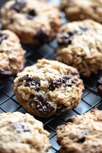 These wheat germ chocolate chip cookies are filled with oats, wheat germ, and chocolate. Perfect for an easy breakfast on the go or as an afternoon energy-boosting snack. And they taste fantastic!