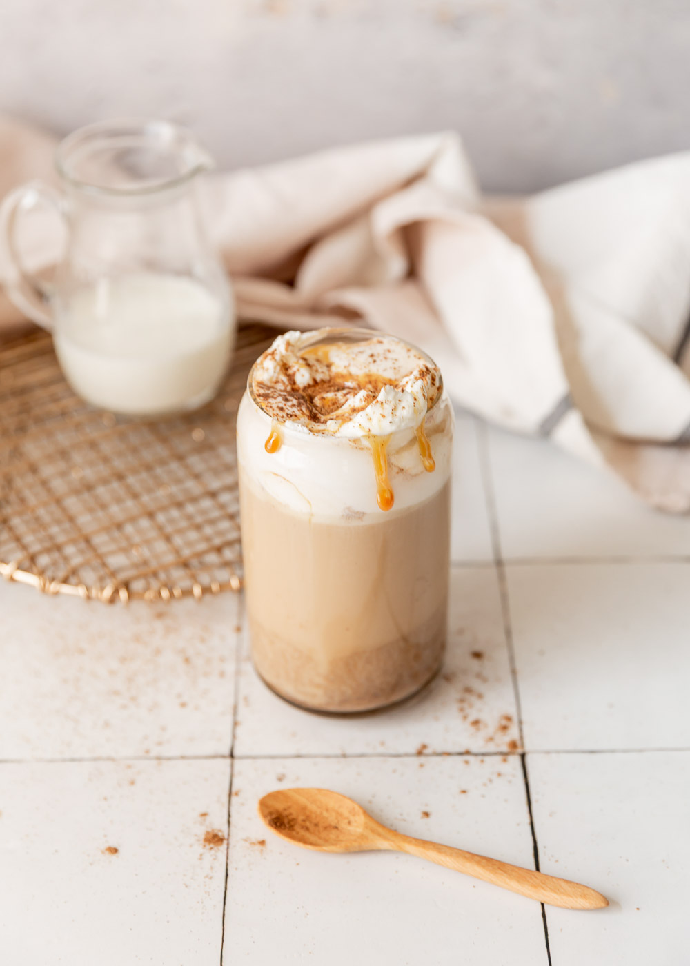 The Best Homemade Pumpkin Spice Latte - a healthier homemade twist on a favorite fall-inspired coffee that you can make at home. It is easy to make and better for you than the store-bought version.