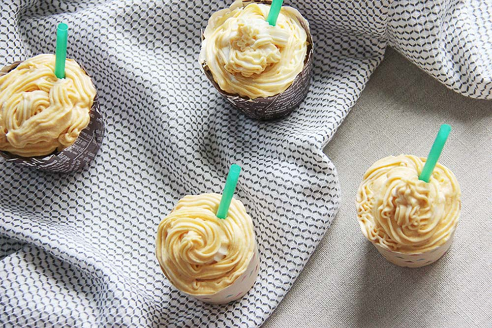 Best Pumpkin Spice Latte Cupcakes - they taste and smell just like the popular hot beverage. A perfect fall flavor combo!