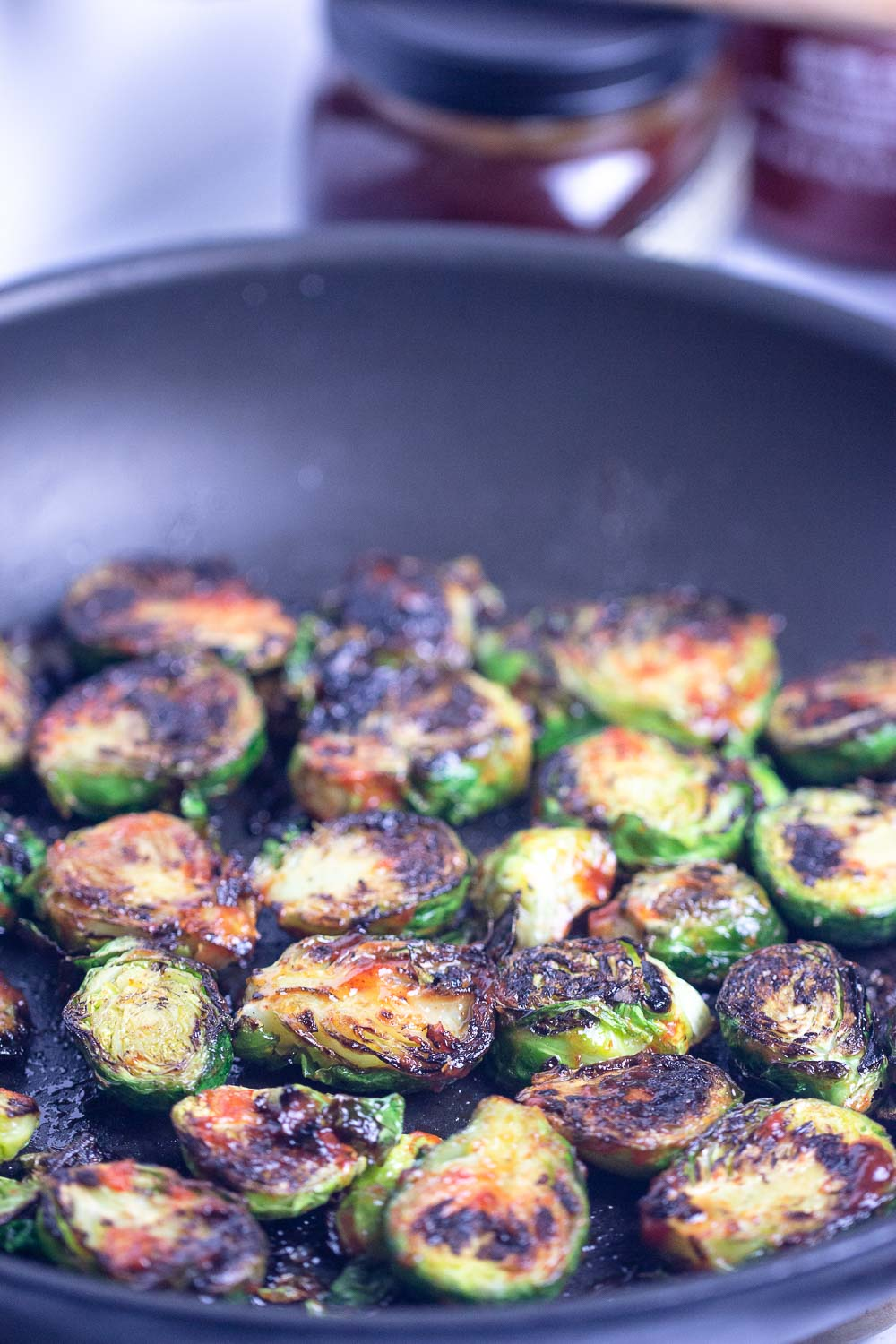 These Honey Sriracha Brussels Sprouts make an excellent side dish — sweet and fiery at the same time!