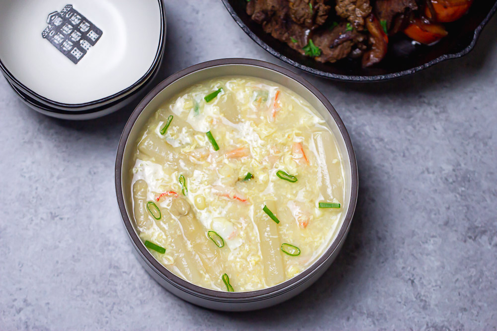 Crab & Asparagus Soup - Winter comfort soup loaded with asparagus and crab meat. Family-friendly and elegant enough for a party, staying in on a cold night.