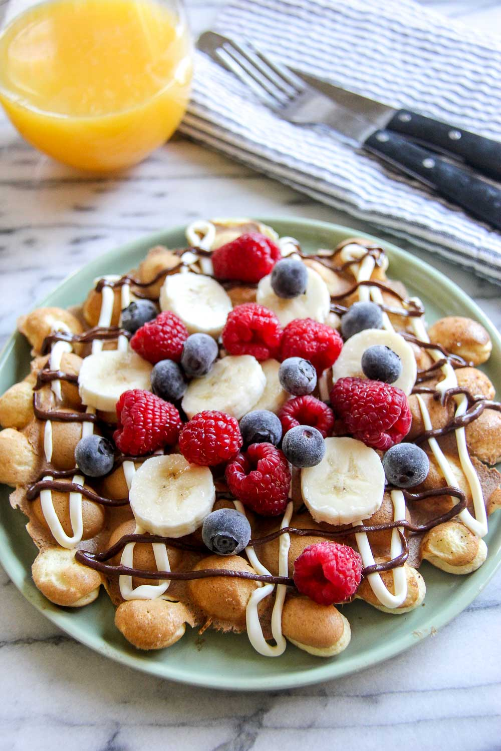 I love eating waffles for any time of the day and this Breakfast Egg Waffle is my all-time favorite. All that you love about breakfast, in an easy and fun form!