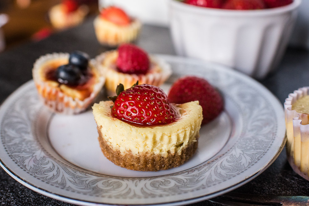 Silky and smooth, sweet and tangy, and crispy and creamy all in one bite. That's how I describe these easy mini cheesecakes! A decadent treat that will make your taste buds want to come back for more.